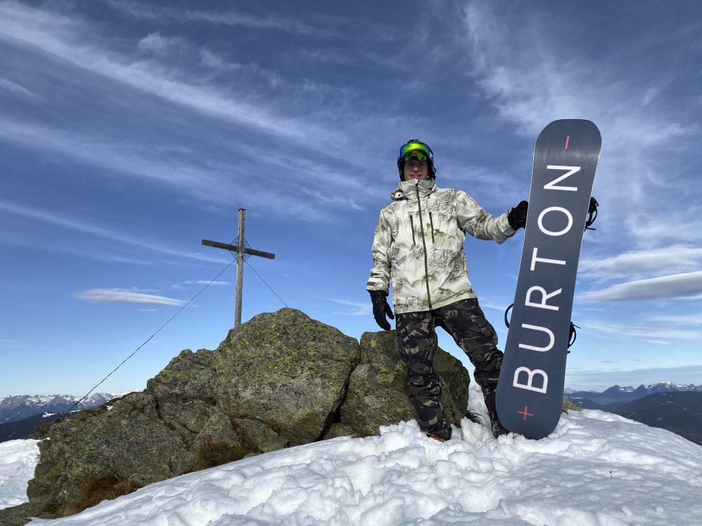 Matt Ray on the Burton Custom X Flying V at St Johann in Austria at