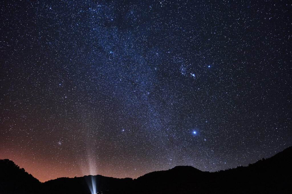 The night sky over La Palma