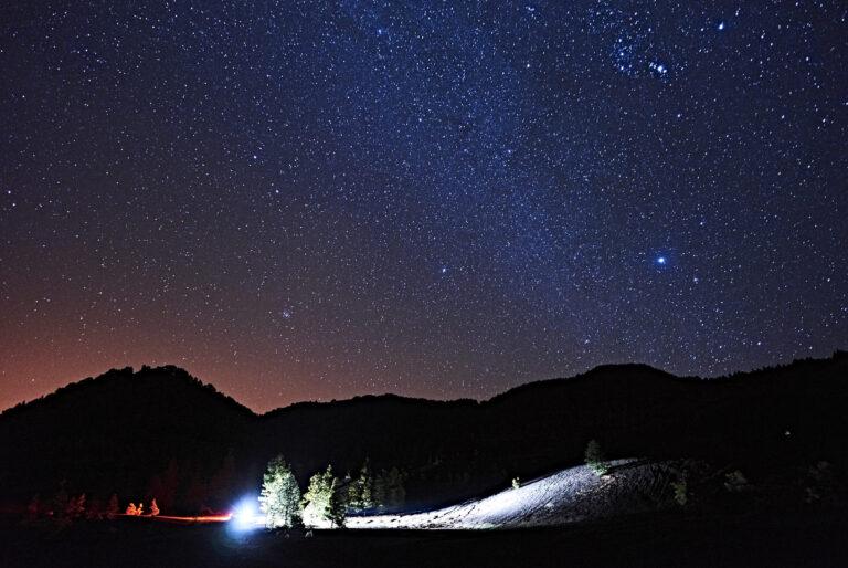 Starlight reserve La Palma light painting using a car