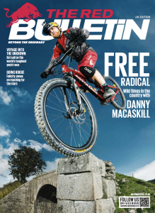 The Red Bulletin cover cutting for Matt Ray adventure writer and photographer