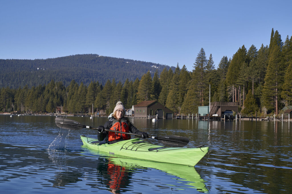 Kayak Lake Tahoe Julia ©Matt Ray, All Rights Reserved