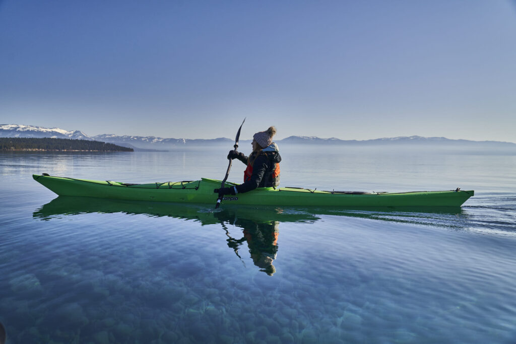 Kayak Lake Tahoe Julia