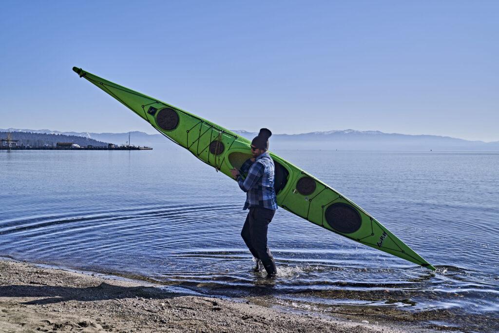 Kayak Lake Tahoe beaching ©Matt Ray, All Rights Reserved