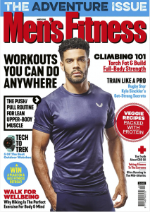 Men's Fitness cover cutting for Matt Ray adventure writer and photographer