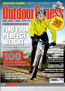 Outdoor Fitness cover cutting for Matt Ray adventure writer and photographer