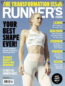 Runners World cover cutting for Matt Ray adventure writer and photographer