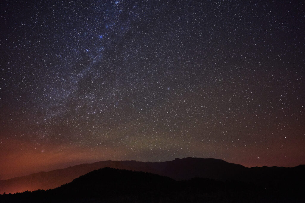 Landscape astrophotography on La Palma