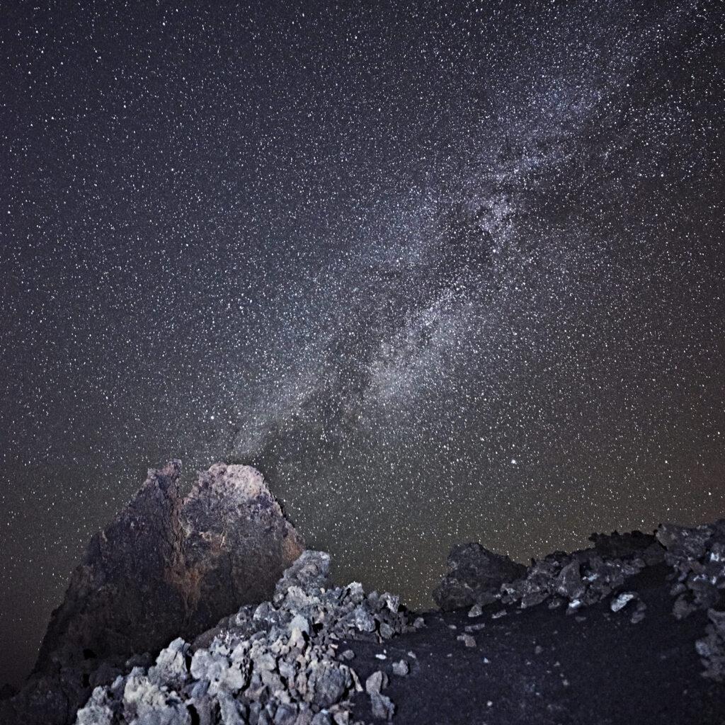 Landscape astrophotography photograph taken on La Palma