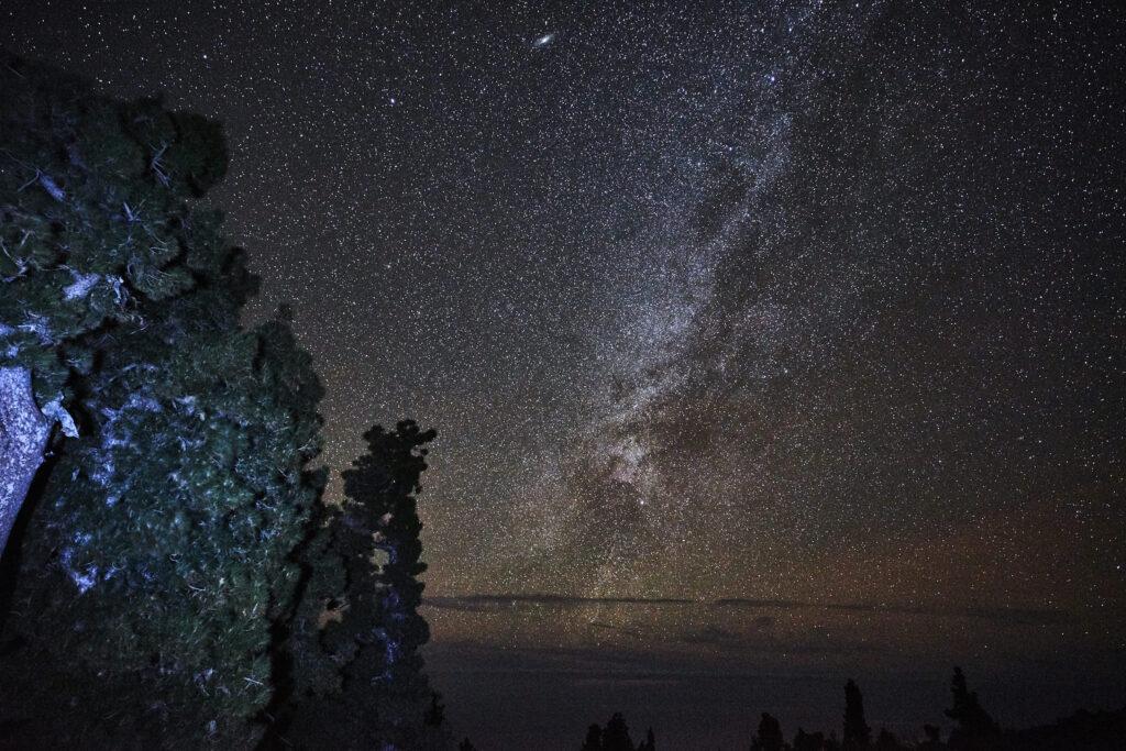 Stargazing light painting on La Palma
