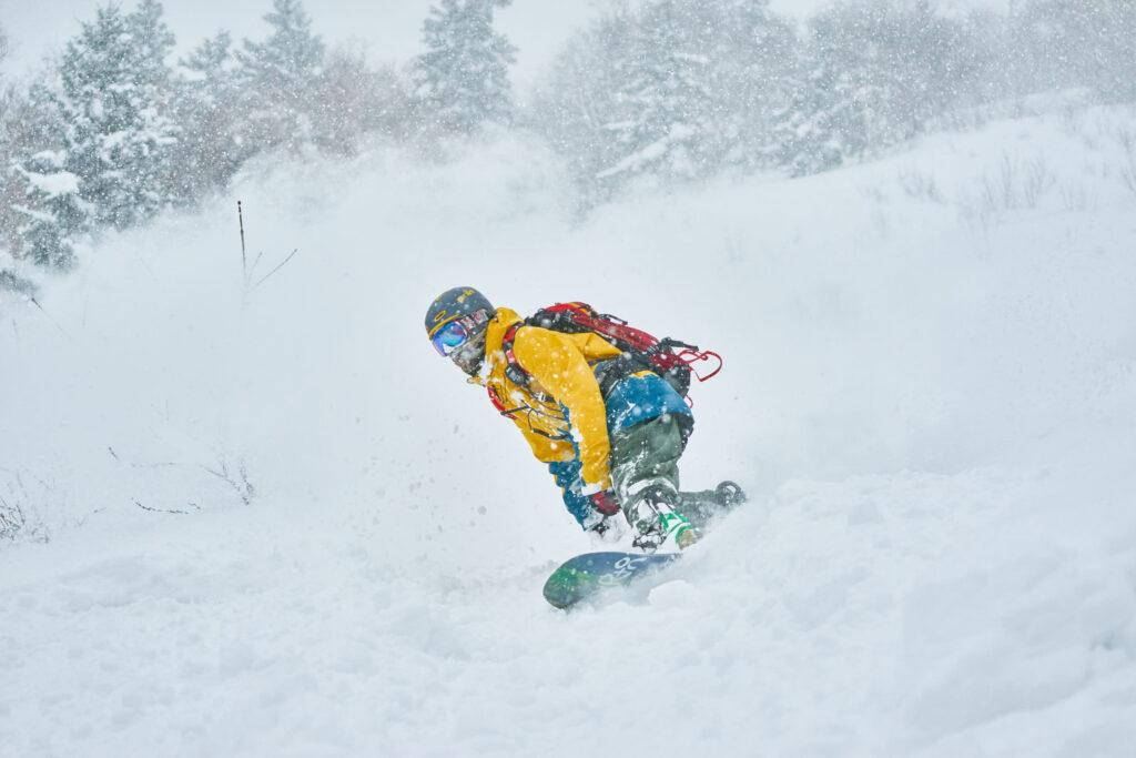 Riding the powder snow at Iwani, Hokkaido Japan