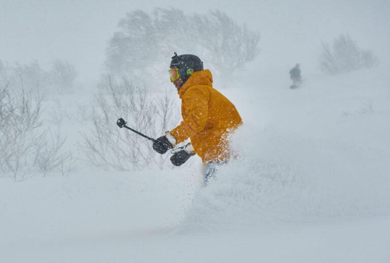 Riding the powder snow at Iwani, Japan