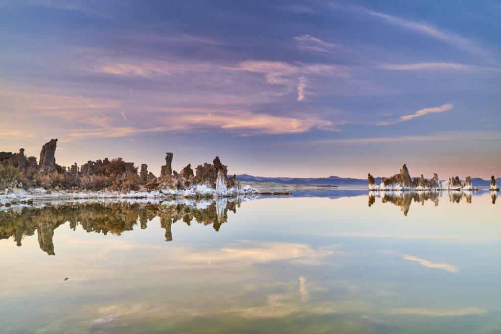 The sunset over Mono Lake
