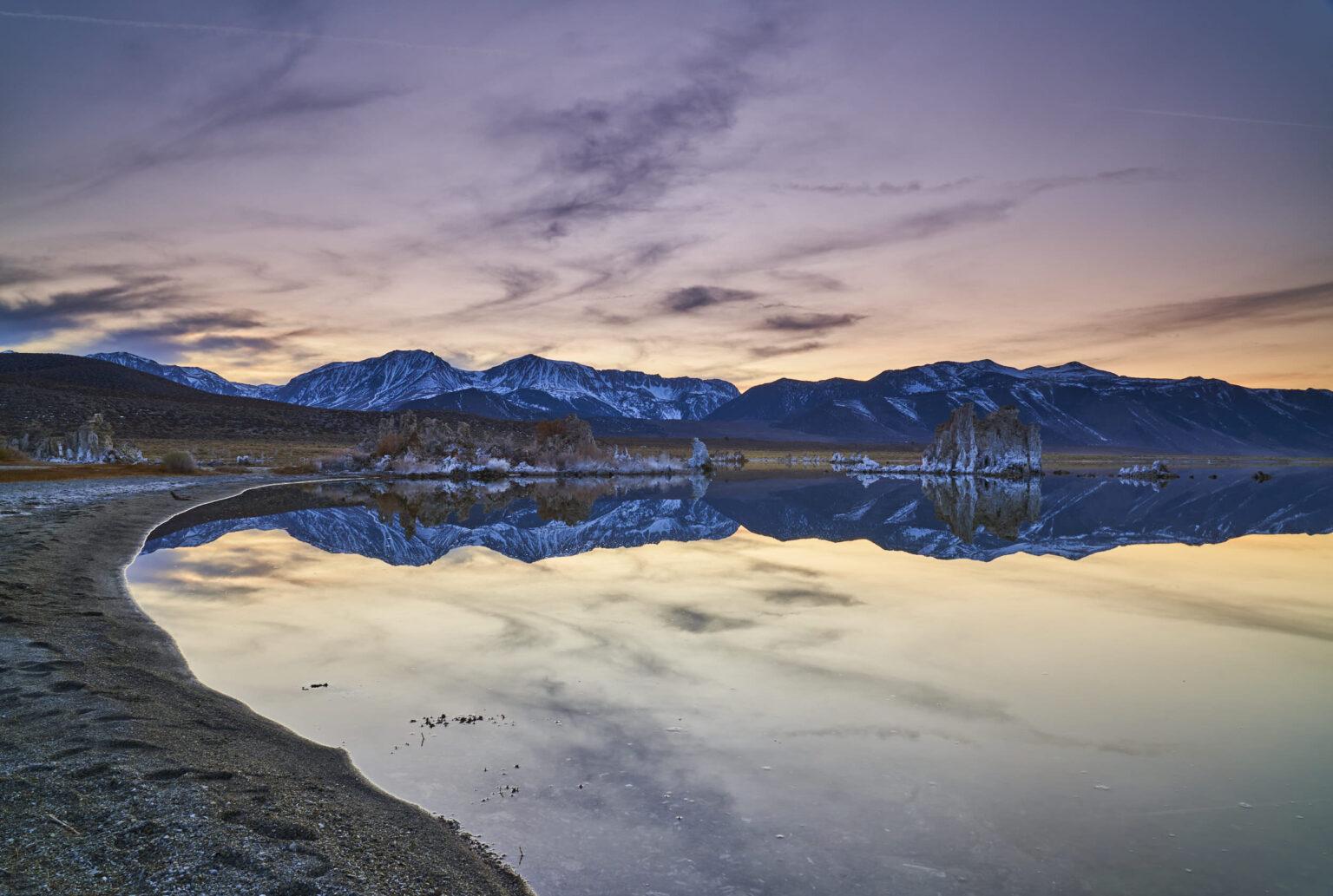 Sunset on Mono Lake