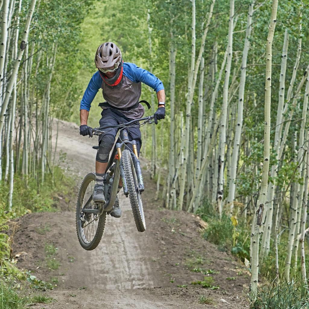 Bike Park big air at Aspen Snowmass