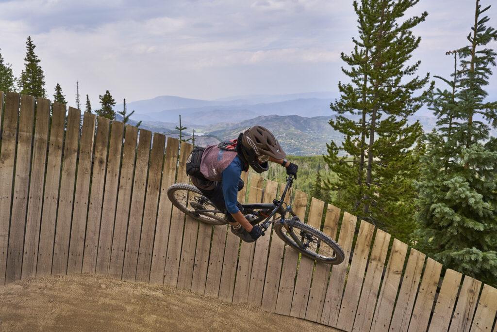 Tackling the Wall Ride at Snowmass Bike Park