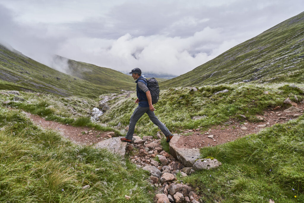 Mike Pescod on the approach to Ben Nevis