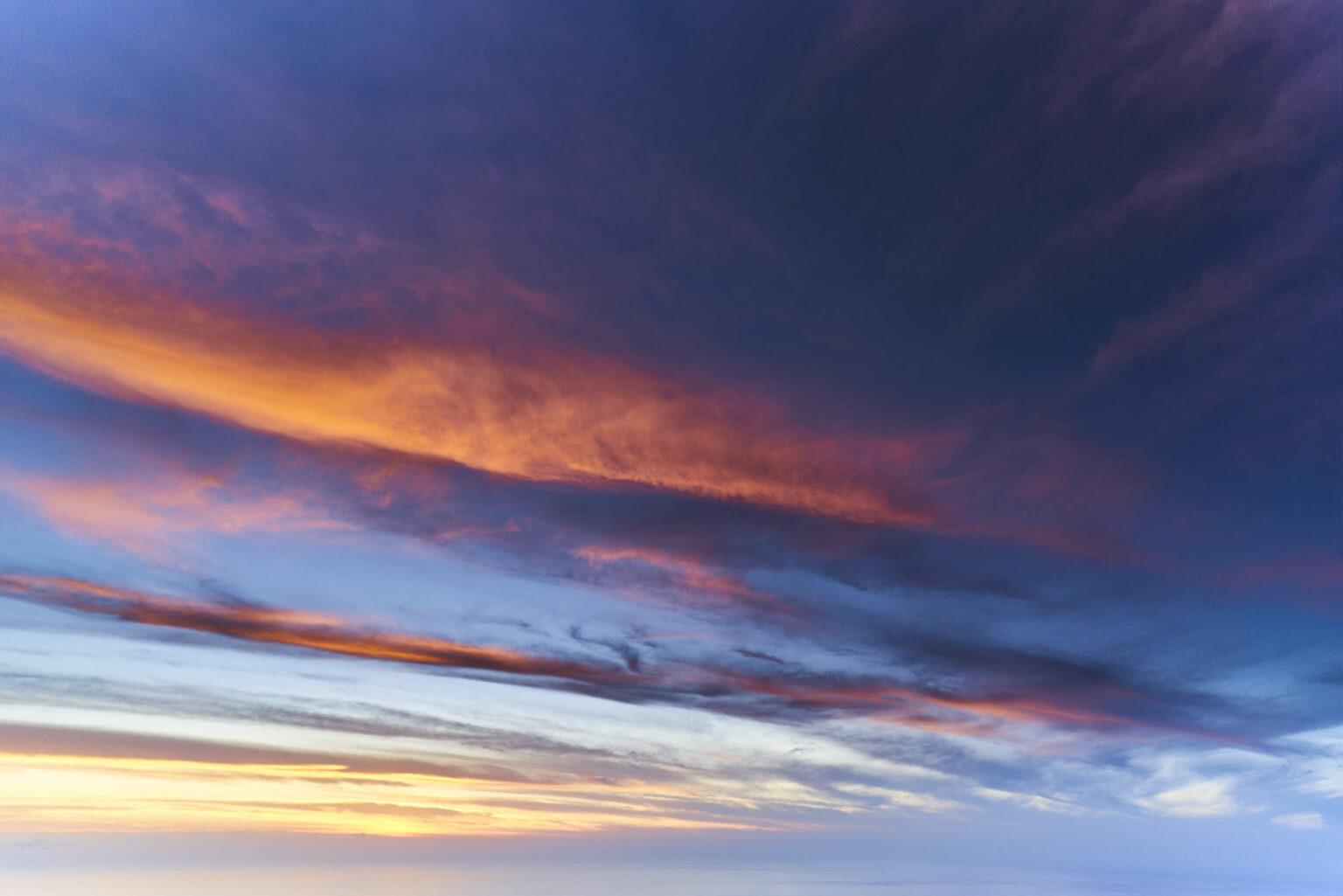 La Palma sunset sky