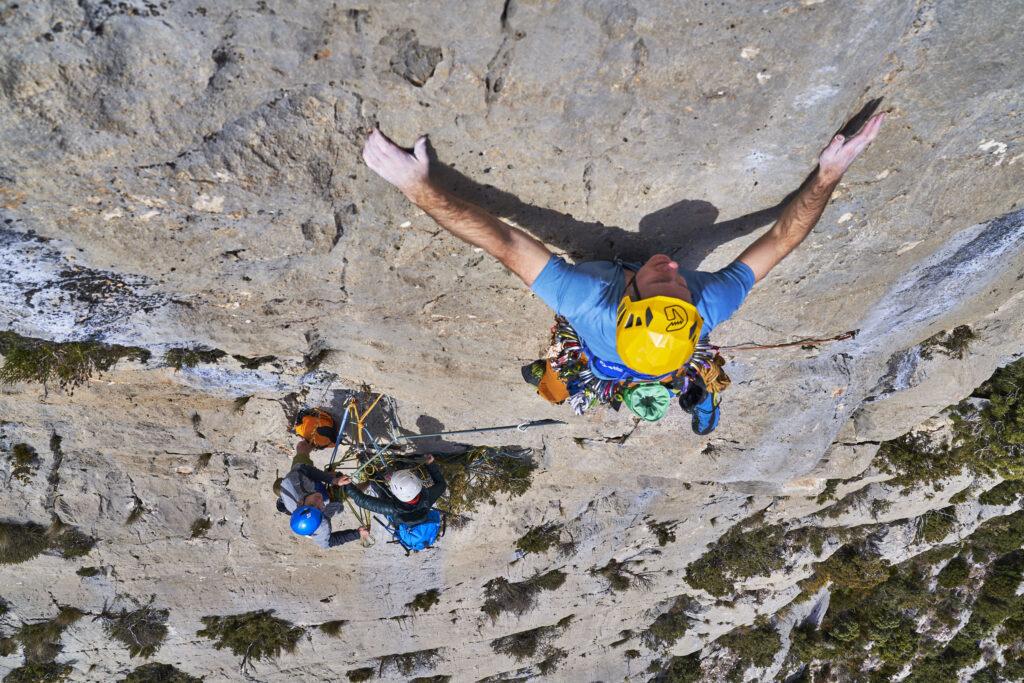Matt climbing in Catalunya