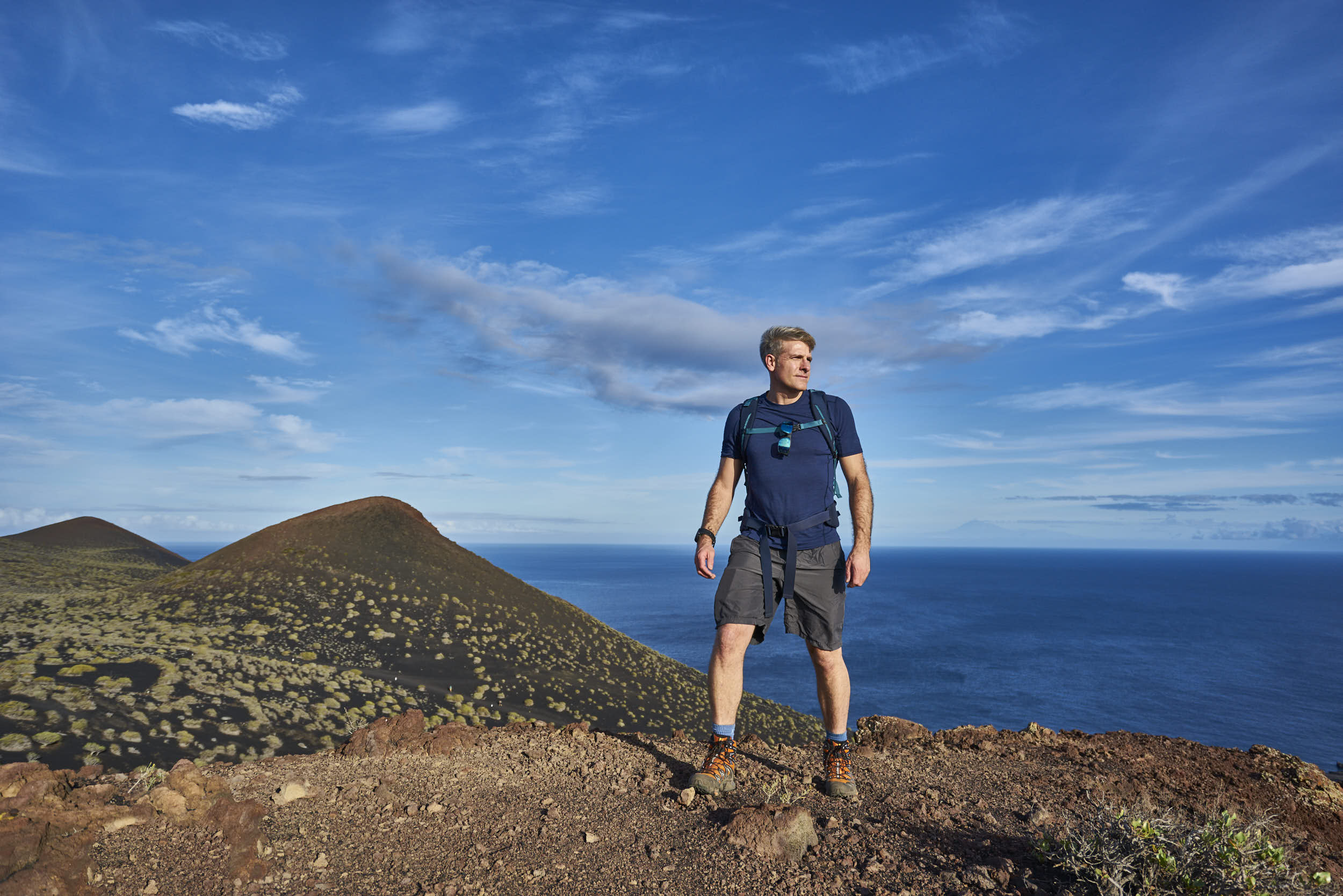 Matt Ray adventure writer and photographer trekking on La Palma