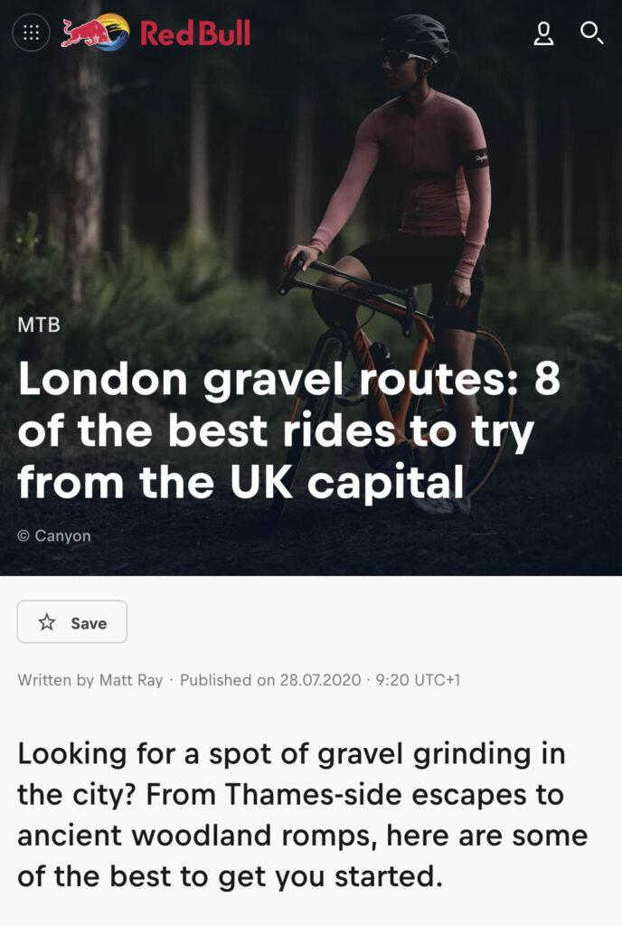 London gravel bike routes