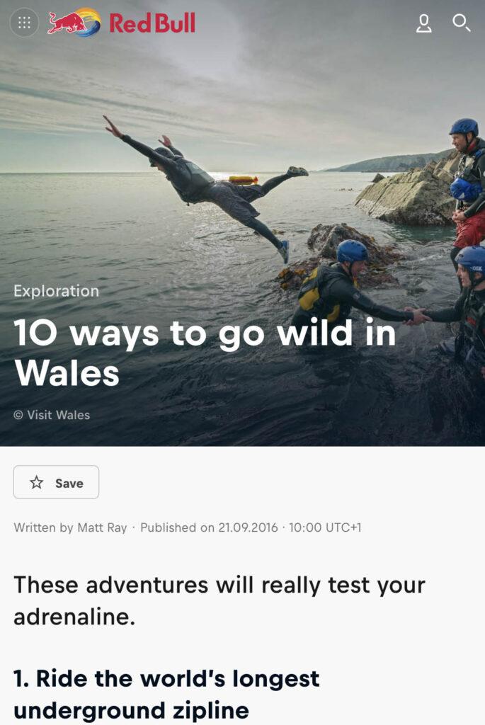 10 Wild Adventures In Wales