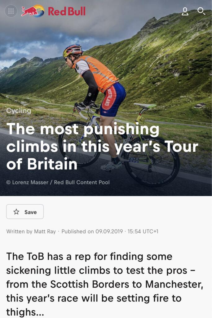 Punishing Tour of Britain climbs