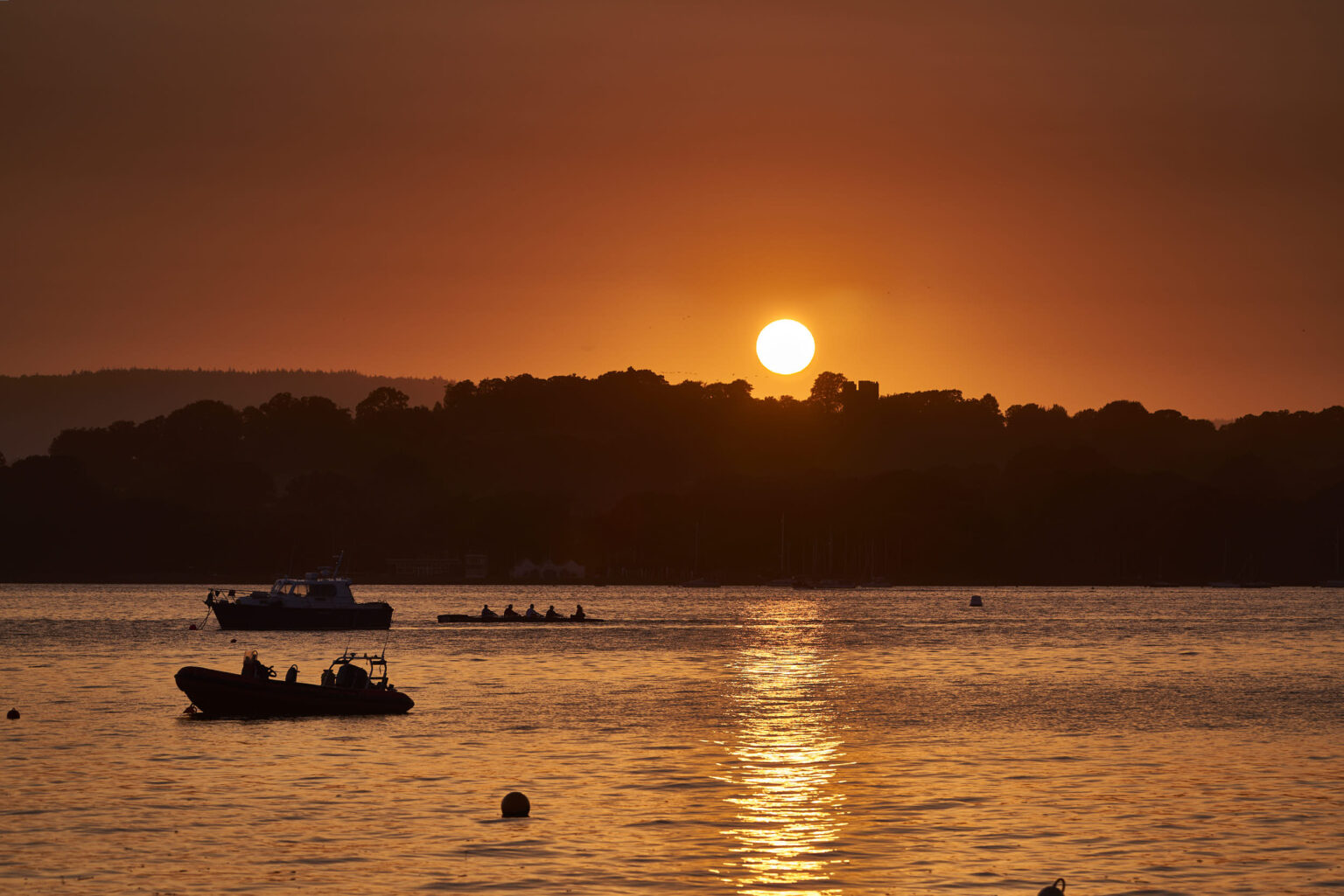 The sun setting over Lympstone Harbour