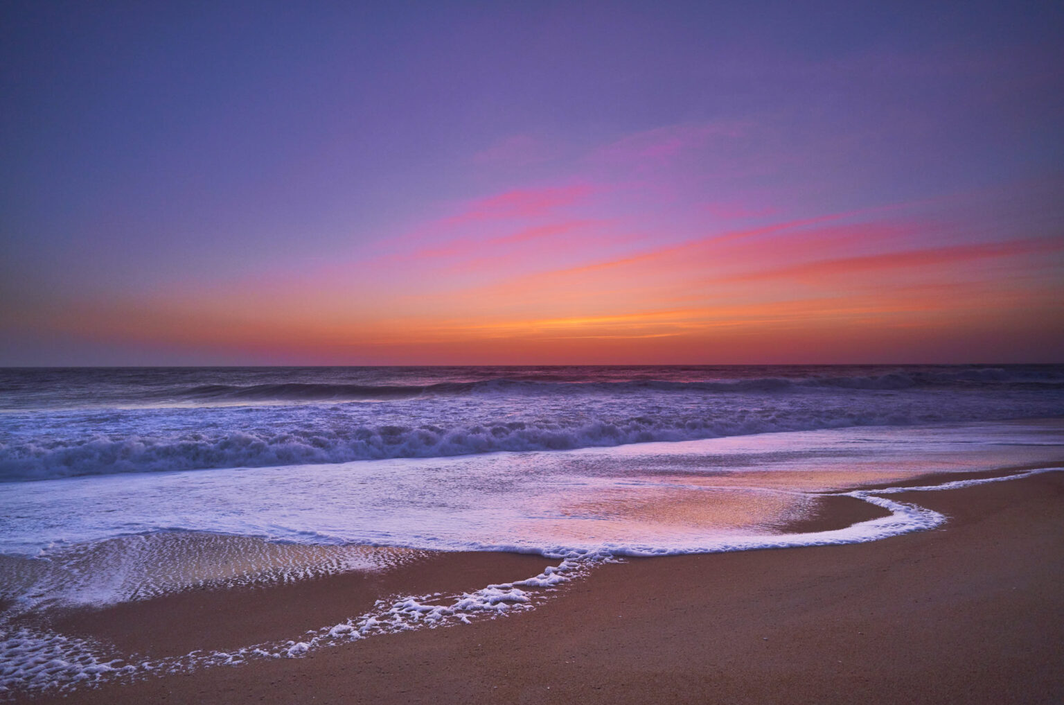 After sunset at Nazare Beach